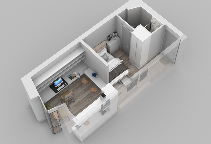 Park One Residence Newcastle Internal Layout